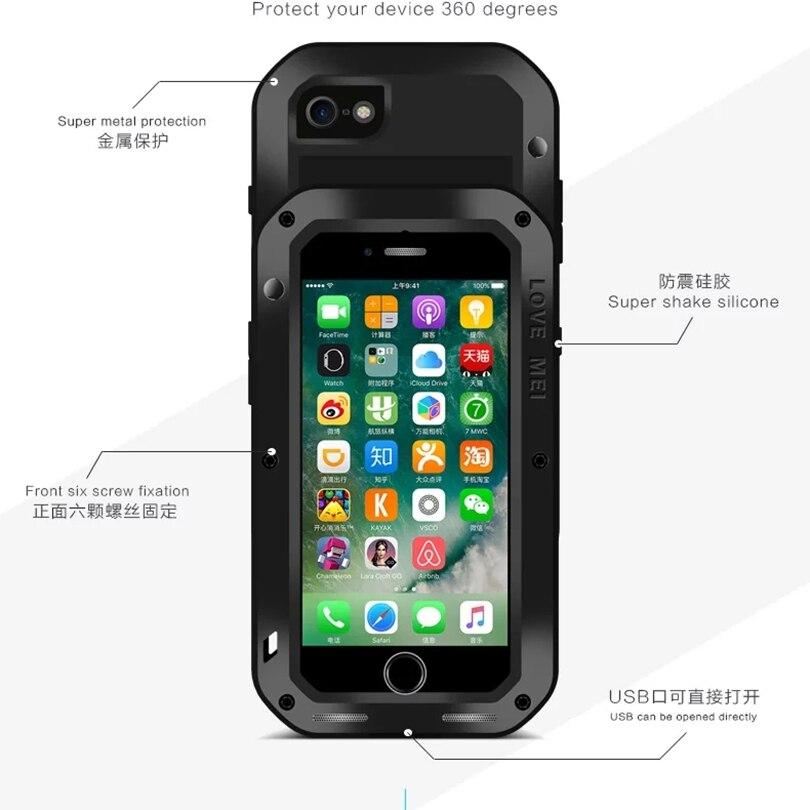imágenes para Para iphone 7 original amor mei extreme potente vida a prueba de golpes proteger a prueba de polvo contra la caída del metal para el iphone 7