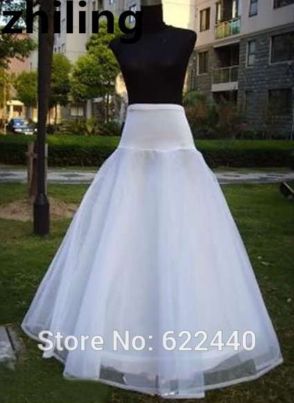 Free Shipping Stock Bridal Petticoat Adjustable Wedding Dress Underskirt Crinoline No Hoops Bustle