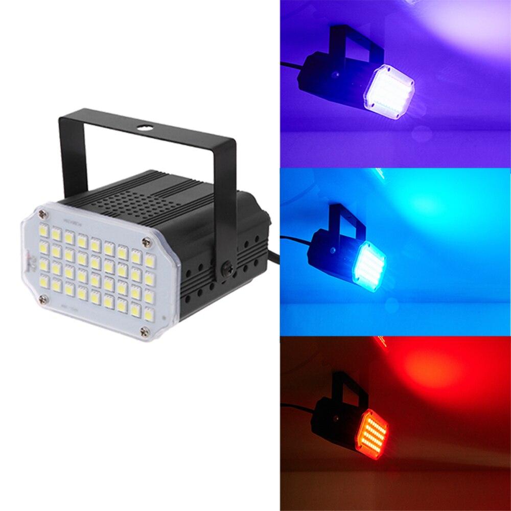 RGB Strobe Light LED Disco Strobe Lights 15W DJ Flashing Stage Light For KTV Party Lighting Christmas Decoration For Home