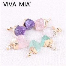 1pc Druzy Necklace Minerals Jewelry Pendants And Stones Pink Purple Gold Natural Color Green Crystal For Making