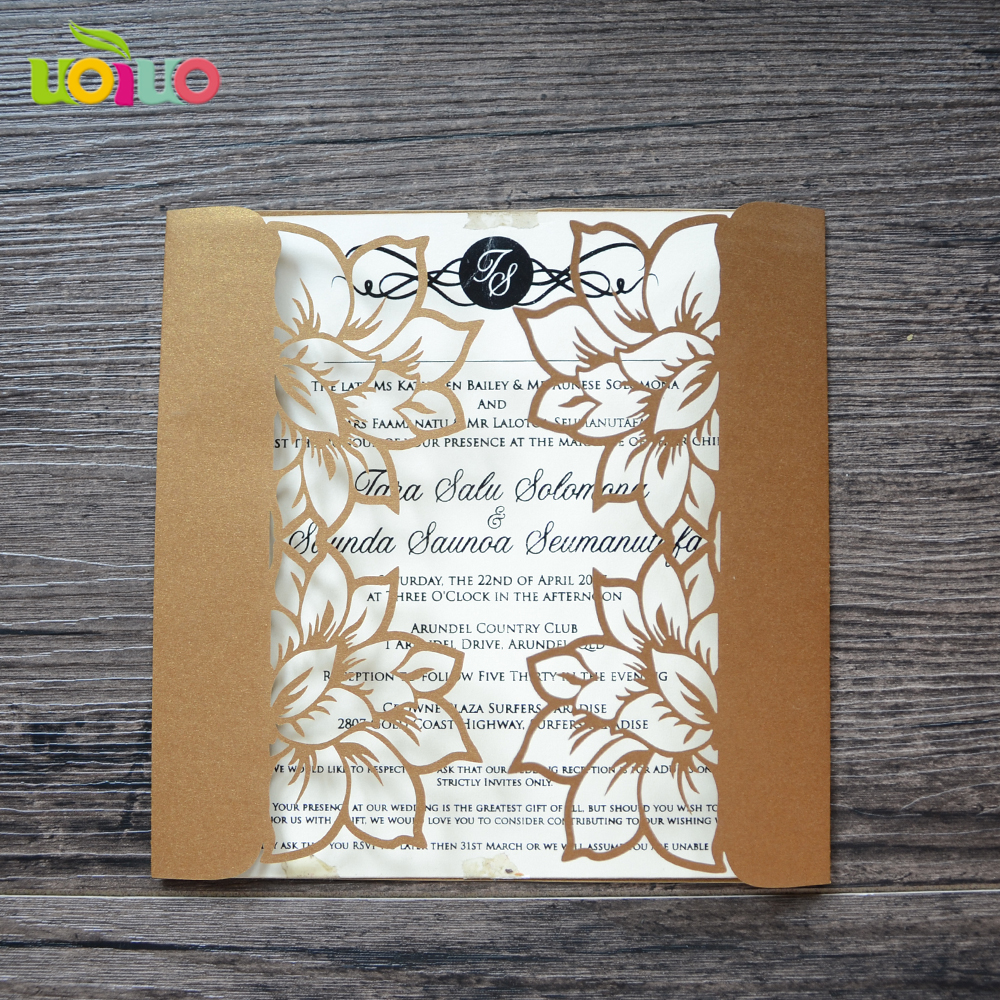 Nice Yellow Cheap Wholesale Invitation Greeting Cards For Wedding