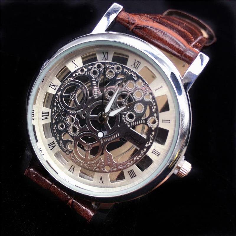 Fashion Silver Gold Stainless Steel Hollow Watches Mens Top Brand Luxury Skeleton  Watch Men Casual Cheap Wristwatch Clock 2021 Quartz Watches  - AliExpress