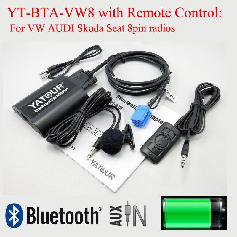 Yatour Bluetooth music decorder BTA with Rmoteo control for VW AUDI Skoda Seat 8pin radio