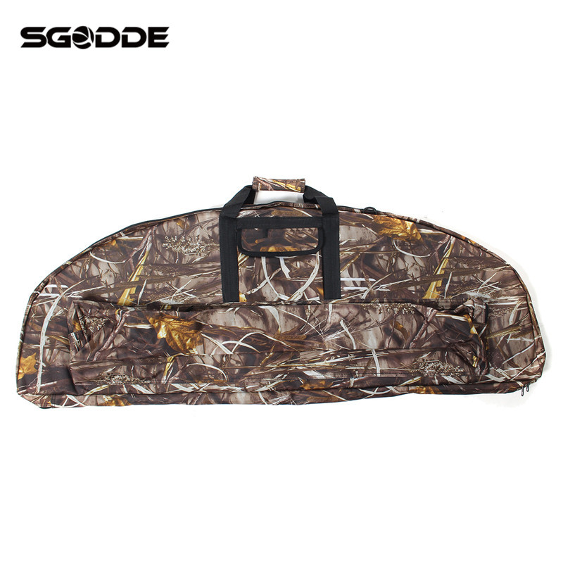 Hot Sale Outdoor Sports Hunting Camo Camouflage 115cm Compound Bow Bag Archery Arrow Carry Bag Case Holder Pouches Portable