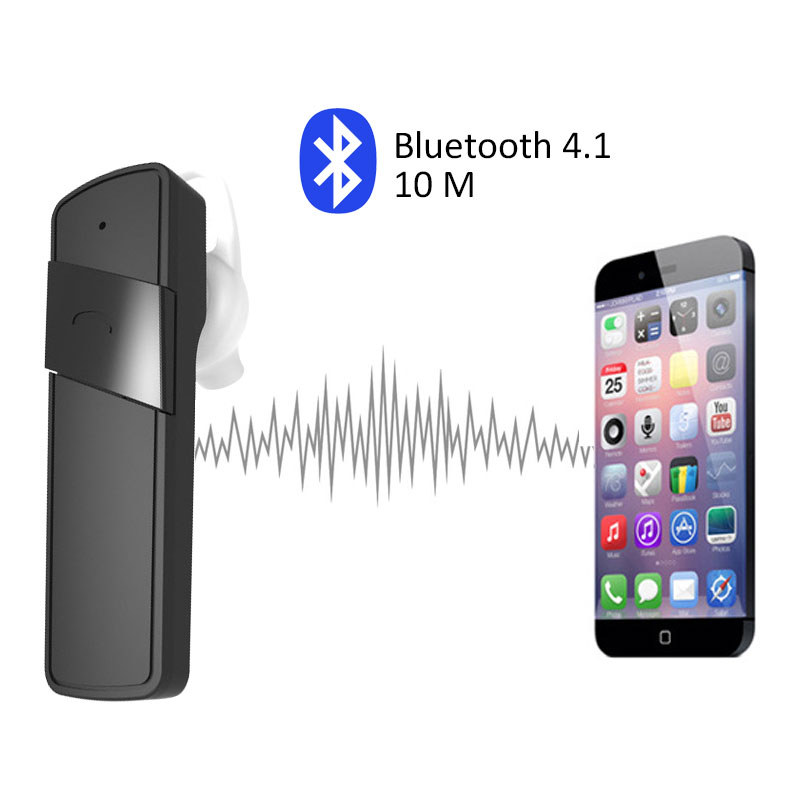 New MiniWireless V4.1 Bluetooth Headset Universal Headphone Earphones Earphone Mic Headphones Wireless Handfree Ear-Hook Headse