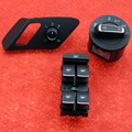3Pcs OEM Headlight Switch & Side Mirror Adjusting Control Switch Button 5GG 941 431D 5GG 959 565C