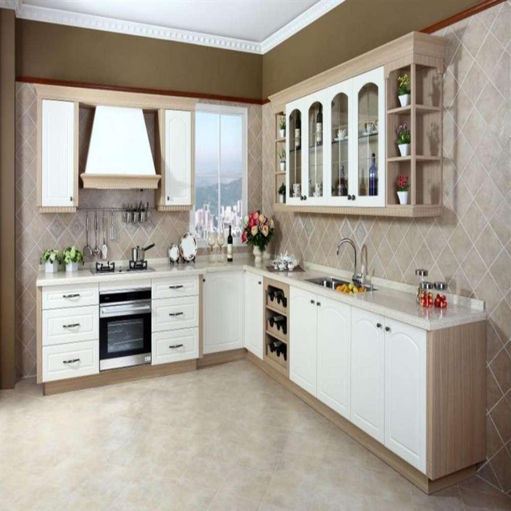L Shaped Modular Kitchen Service: Blanco L En Forma Modular Cocina Despensa Venta En