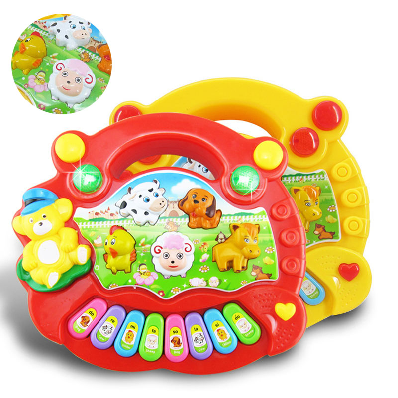Baby Kids Smart Animal Farm Mobile Electric Piano Smart Music Toy English Early Educational Toys for Gift FJ88