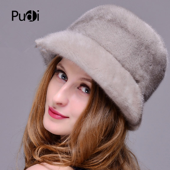 HM018 Winter hats for women Real genuine mink fur hat women's winter hats whole piece mink fur hats hm017 real genuine mink fur hat winter hats for women whole piece mink fur hats winter cap