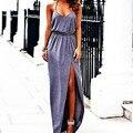 Nuevas mujeres la atractiva backless verano de boho maxi largo del partido de tarde dress beach long dress