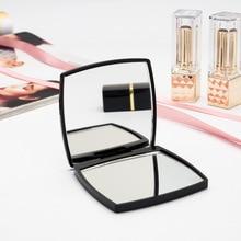 Мини зеркало квадратной формы для девочек, мини двухстороннее портативное зеркало, карманное косметическое компактное зеркало, Прямая поставка