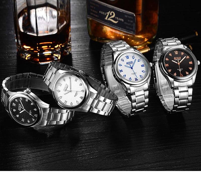 Бренд BOSCK Топ Роскошные роль кварцевые часы Для мужчин живопись золото Нержавеющаясталь часы Для мужчин Бизнес золотые наручные часы мужс...