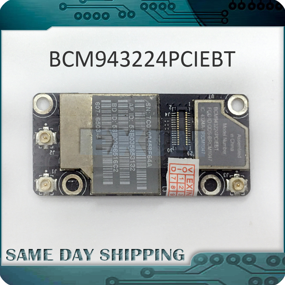 Laptop USED WiFi Bluetooth Airport Card BCM943224PCIEBT for Apple MacBook 13 A1342 2009 2010 Pro 15 A1286 17 A1297 2010