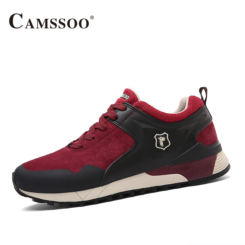 Camssoo Walking Shoes Men Soft Footwear Classic Mens Athletic Shoes Spring Autumn Outdoor Breathable Walk Run Shoes AA40367 купить