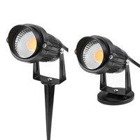 Новый стиль COB сад газон свет лампы 220 В 110 в 12 В открытый светодиодный Спайк свет 5 Вт путь пейзаж водонепроницаемые точечные лампы