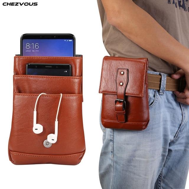 71b8d5aa4a9 CHEZVOUS 6 5 Belt Phone Case Bag Belt Clip Holster Mobile Phone Case Waist  Bag For
