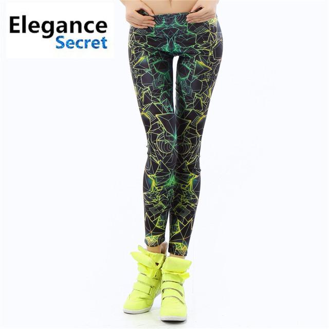 2016 New Fashion Women Leggings  3D Printed Color Legins Ray Fluorescence Leggins Pant Legging For Woman Fitness