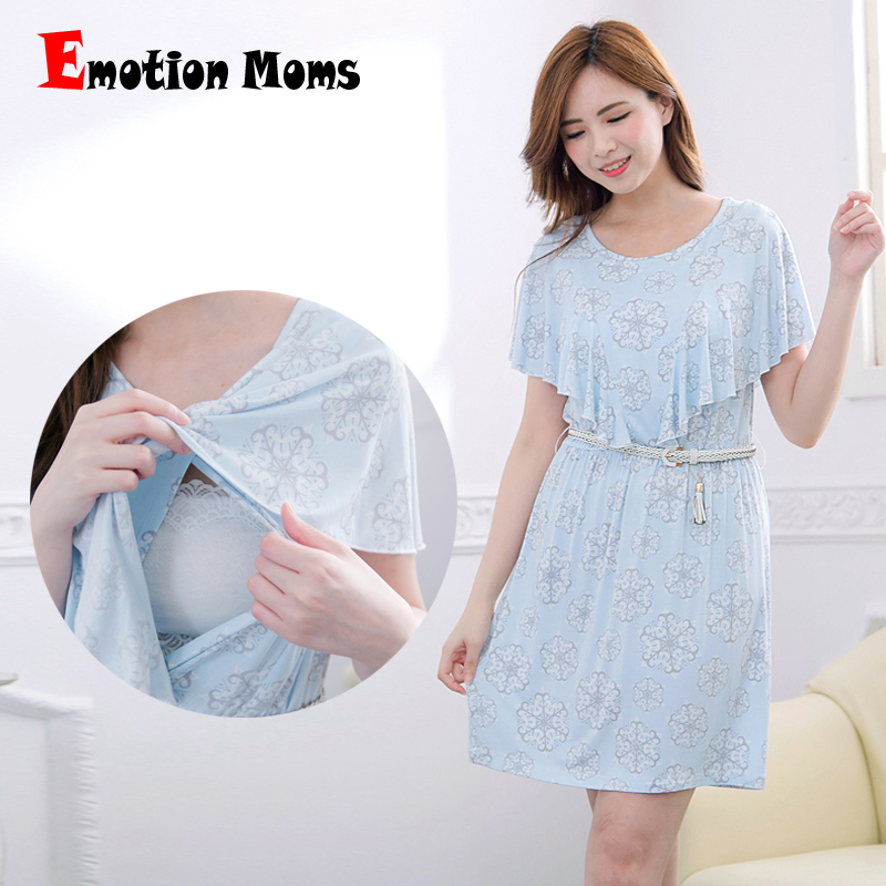 Emotion Moms maternity Clothes Summer maternity Dress nursing Clothing nursing Long Breastfeeding Dresses for Pregnant Women emotion moms new turtleneck maternity clothes nursing dress breastfeeding pregnancy clothes for pregnant women maternity dresses