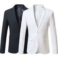 Red Burgundy Navy Blue Black White Casual Slim Fit Formal Jacket Male Suit Blazer Men Plus Size 5XL 6XL