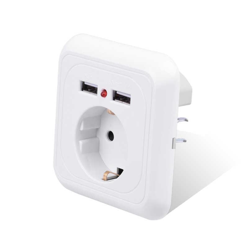 Nouveauté prise de courant murale 16A EU prise Standard avec 2400mA double Port de chargeur USB pour la maison intelligente Super puissance Mobile