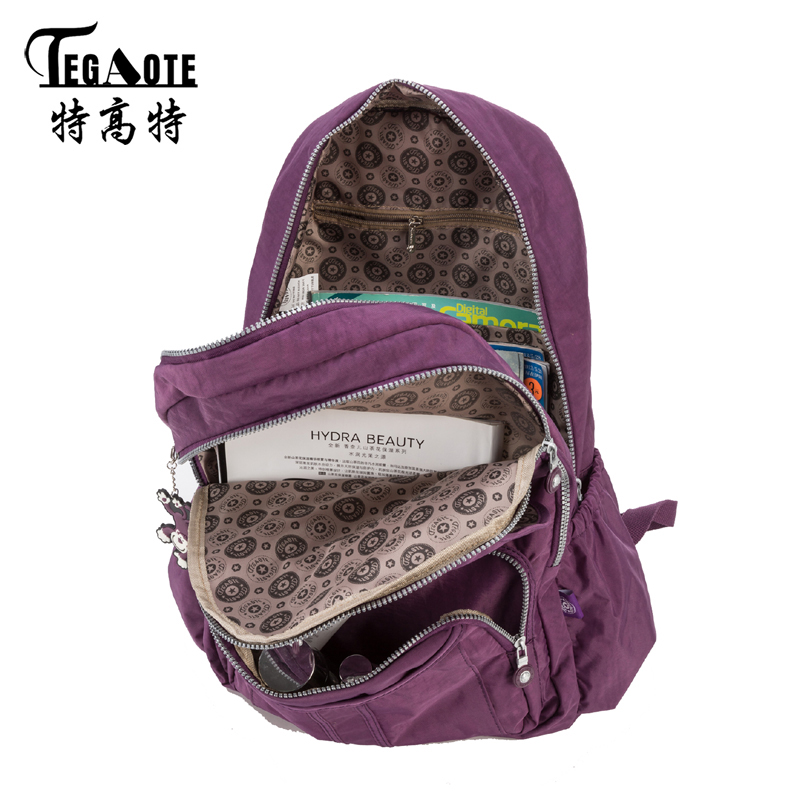 f403d80b32 TEGAOTE Classic Big School Backpacks for Teenage Girls Students Book Bag  Man s Backpack Nylon Casual Laptop Daypack Female-in Backpacks from Luggage    Bags ...