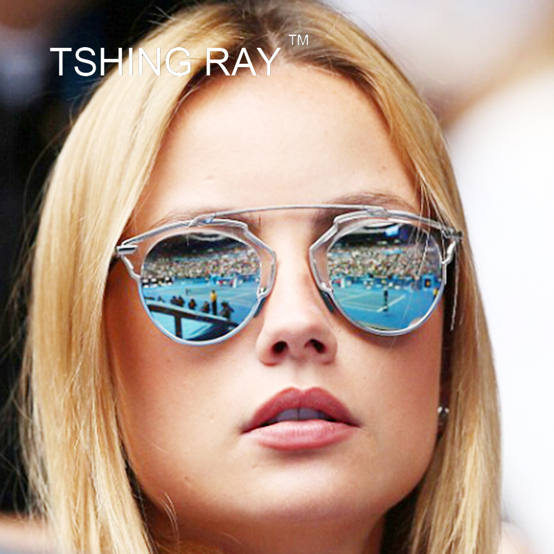 Vintage Superstar Cat Eye Sunglasses Women Luxury Brand Designer Mirror Sun Glasses Real Fashion Lady Woman Oculos UV400