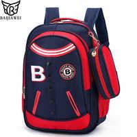 3d6b43f2436d BAIJIAWEI Лидер продаж школьные сумки для Для детей мода рюкзак сумка для  начальной школы для мальчиков
