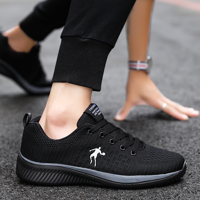 2019 New Mesh Men Casual Shoes Lac up Men Shoes Lightweight Comfortable Breathable Walking Sneakers Tenis Feminino Zapatos Buty in Men 39 s Casual Shoes from Shoes