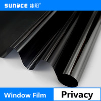 Black Glass Window Film For Window Privacy Self Adhesive Glass Stickers Home Decor Black Color Bedroom 1m x 10m