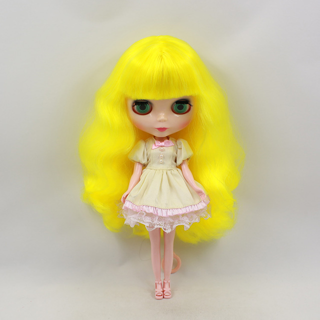 Factory Neo Blythe Doll Yellow Hair Regular Body 30cm