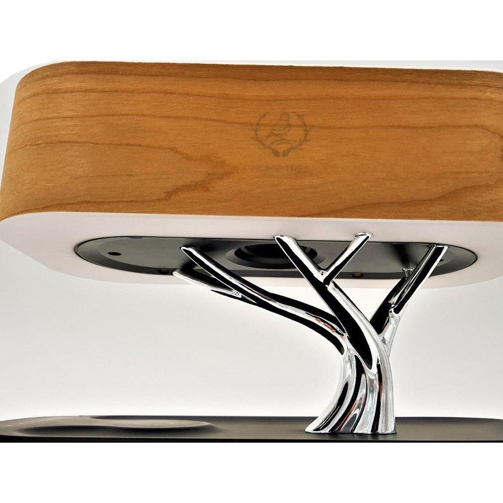 Multifonction LED lampe de Table haut-parleur sommeil automatique téléphone Mobile chargeur sans fil arbre conception décoration de la maison