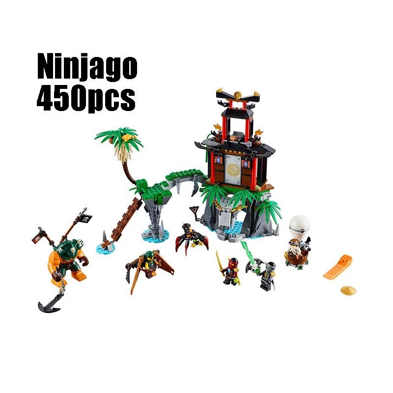 Compatible Legoe Ninjagoes 70604 Lepin 06030 blocks Ninjago Figure Tiger Widow Island toys for children building blocks 0367 sluban 678pcs city series international airport model building blocks enlighten figure toys for children compatible legoe
