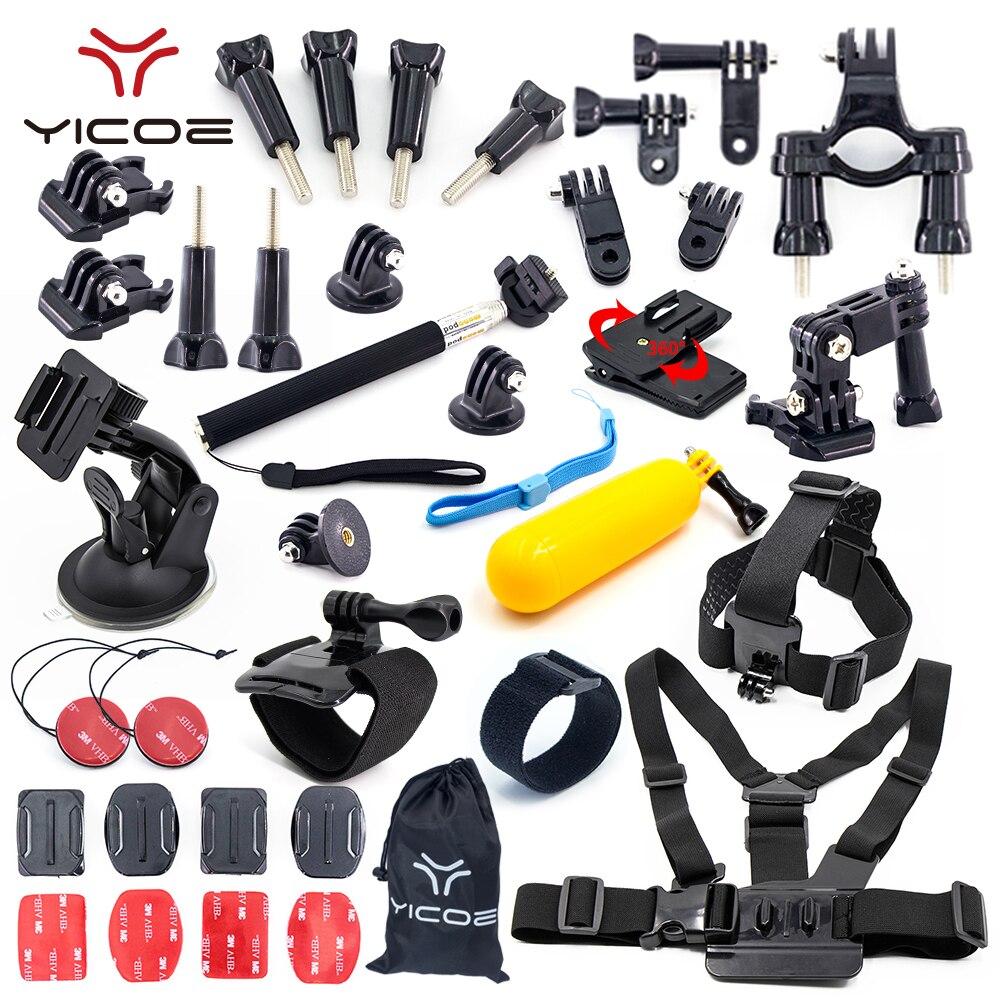 for Gopro Hero Go Pro 6 5 4 3 Set Mount Adapter Arm Chain Tripod SJCAM SJ4000 Xiaomi yi 4k mijia Action Sport Camera Accessories