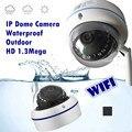 Wireless impermeable al aire libre cámara domo ip wifi HD monitor de seguridad de control Remoto fábrica v380 onvif tarjeta de memoria
