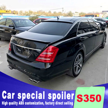air streamline high quality ABS material rear trunk wing spoiler for benz s350 by primer or and color paint