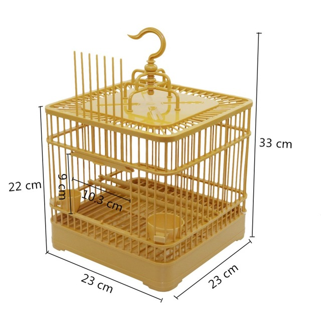 Assembly Bird Cage With Feeder And Waterer Small Pet Bird Full Set Of Plastic Bird House Thrush Parrot Cage 23x23x22cm 1