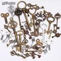 Metal Mezclado Encantos de la Forma Clave Encantos del Colgante para La Joyería Que Hace DIY Decoración Hecha A Mano de La Vendimia Encantos de la Llave 40 unids C8321
