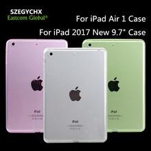 Tablet case para ipad air 1 case para ipad 2017 nuevo 9.7 pulgadas case crystal clear silicio delgado ultra fino de tpu transparente cubierta suave