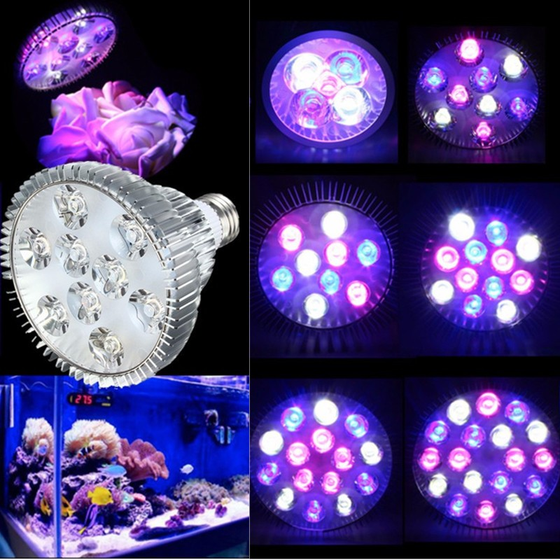 LED Grow Light 15/27/36/45/54W UV IR Led Growing Lamp E27 Aquarium Coral Reef Plant Vegs Growth Led Lamp PAR38 PAR30