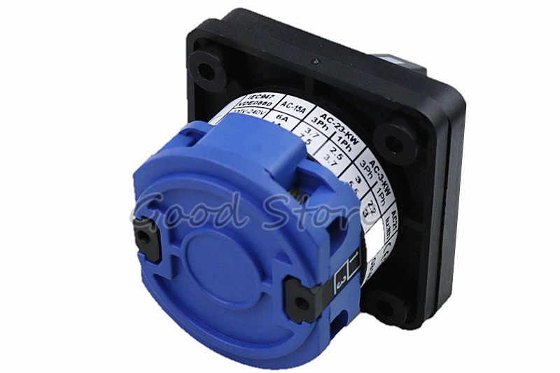 Высококачественный LW26-20/1 ВКЛ/ВЫКЛ 2 позиции 2 полюса 4 клеммы CA-10 440 В Ui 660 В 20а выключатель кулачкового типа