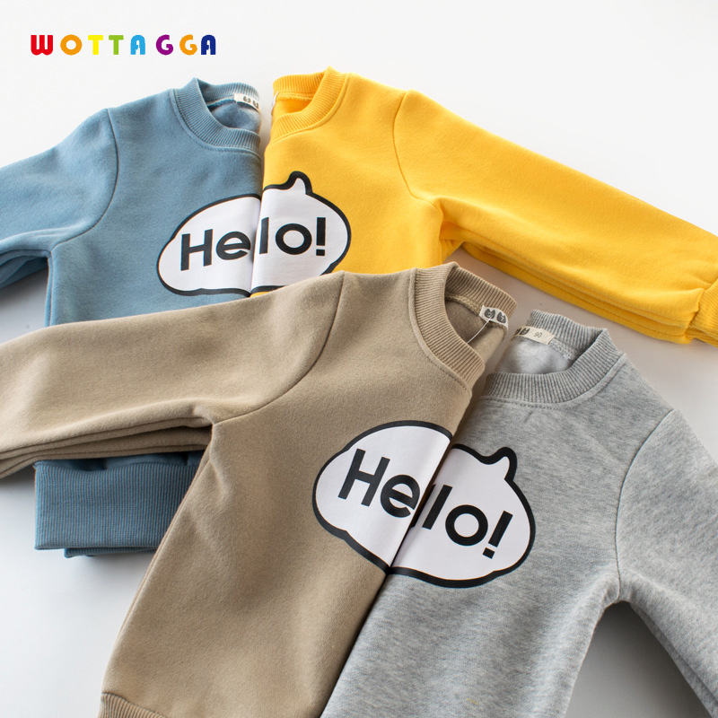 WOTTAGGA 2018 Boys Sweatshirt Cotton T shirt for Boys outwear 3-8 years Kids Clothes Spring Autumn Boys Tops Tees Clothes O-neck