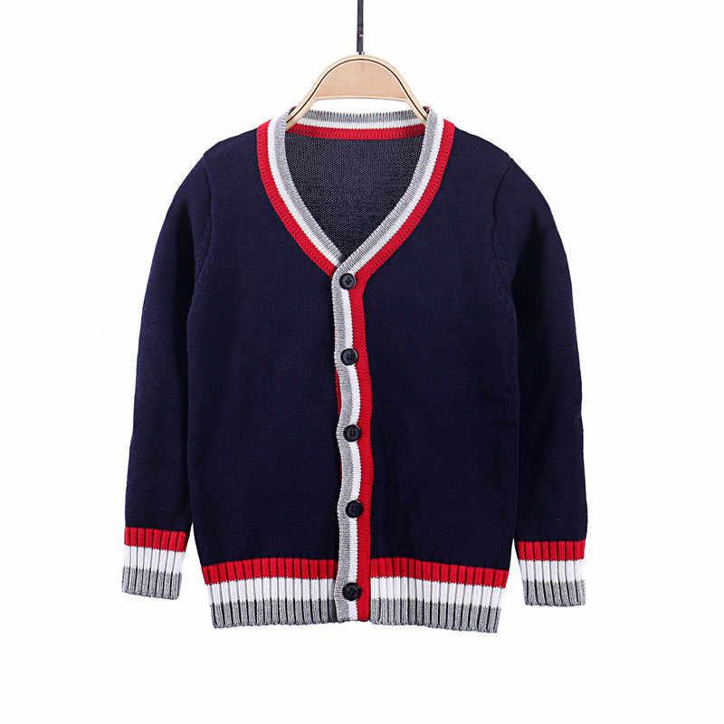 Auro Mesa Kids Boys Anti-Pill V-Neck Cardigan Sweater Button up Knit Children Jacket 1 2 3 4 5 Years