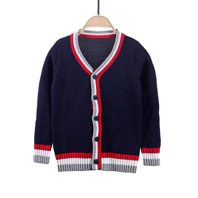 0262460a3 Autumn Knitted Kids Cardigan Sweater Preppy Teenagers Clothing ...