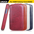 IMUCA Кожаный Чехол Для Samsung Galaxy Core i8260 i8262 GT-I8262 8260 GT 8262 Случаи Обложка Аксессуары Для Мобильных Телефонов Мешок Кобура