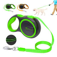 16ft Retractable Dog Leash Extending Reflective Dogs Leashes Austomatic Puppy Walking Leads 3M 5M For Small Medium Pet