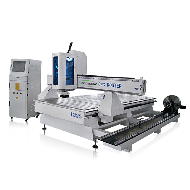 Hot Sale Woodworking Machine 4 Axis 1325 Cnc Router With Rotary Attachment In India