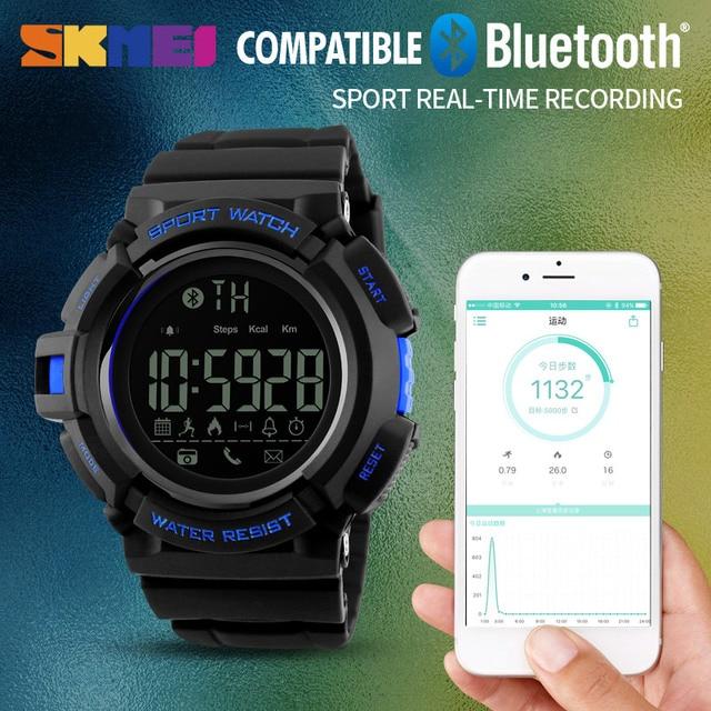 d42d276e1 SKMEI عن كاميرا ساعة ذكية الرجال عداد الخطى الرياضة الساعات مكالمة رسالة  التطبيق تذكير الذكية معصمه