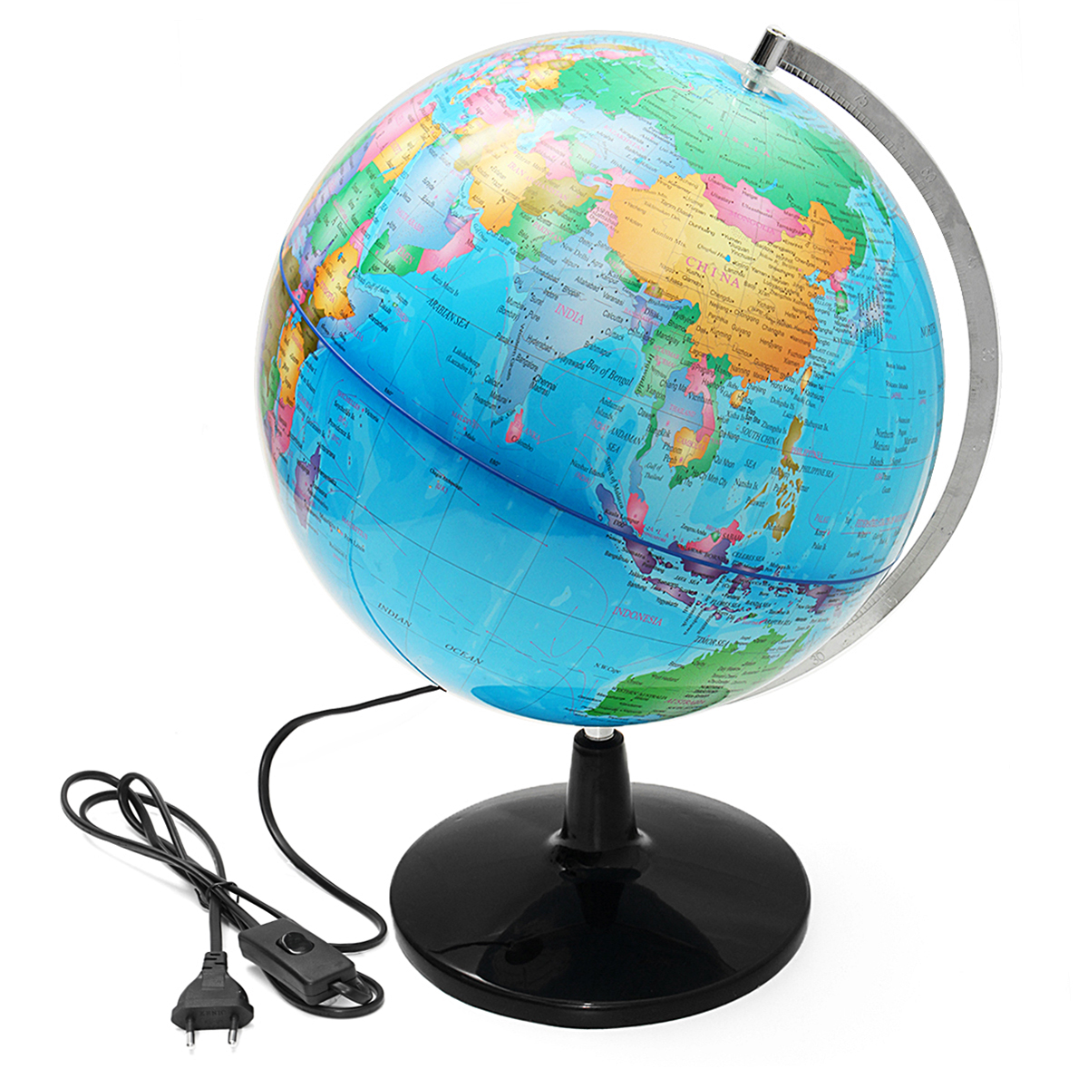 32 cm Électrique LED Lumière Monde Globe Terre Carte Enseigner L'éducation Géographie Toy Terrestre Tellurion Globe home Office Décor de Bureau - 2