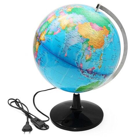 32cm eletrica com luz globo mundo mapa