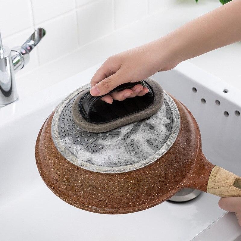 Image 2 - Чистая кисть с ручкой волшебная губка кухонная дезактивационная чаша ершик для чистки посуды очиститель для окон аксессуары для ванной комнаты-in Щетки для очистки from Дом и животные